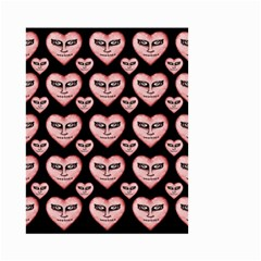 Angry Devil Hearts Seamless Pattern Small Garden Flag (two Sides)