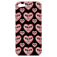 Angry Devil Hearts Seamless Pattern Apple iPhone 5 Hardshell Case