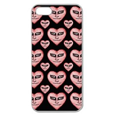 Angry Devil Hearts Seamless Pattern Apple Seamless iPhone 5 Case (Clear)