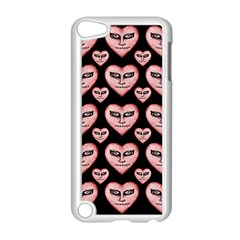 Angry Devil Hearts Seamless Pattern Apple iPod Touch 5 Case (White)