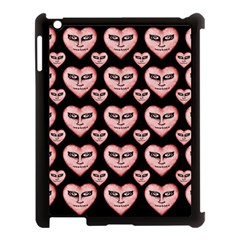 Angry Devil Hearts Seamless Pattern Apple iPad 3/4 Case (Black)