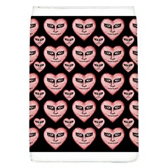 Angry Devil Hearts Seamless Pattern Flap Covers (L)