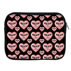 Angry Devil Hearts Seamless Pattern Apple iPad 2/3/4 Zipper Cases