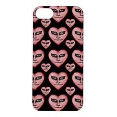 Angry Devil Hearts Seamless Pattern Apple iPhone 5S Hardshell Case