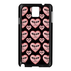 Angry Devil Hearts Seamless Pattern Samsung Galaxy Note 3 N9005 Case (Black)