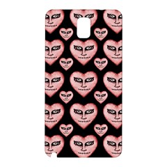 Angry Devil Hearts Seamless Pattern Samsung Galaxy Note 3 N9005 Hardshell Back Case