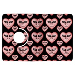 Angry Devil Hearts Seamless Pattern Kindle Fire HDX Flip 360 Case