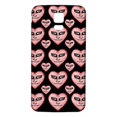 Angry Devil Hearts Seamless Pattern Samsung Galaxy S5 Back Case (White)