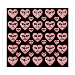 Angry Devil Hearts Seamless Pattern Double Sided Flano Blanket (Small)
