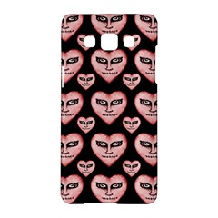 Angry Devil Hearts Seamless Pattern Samsung Galaxy A5 Hardshell Case