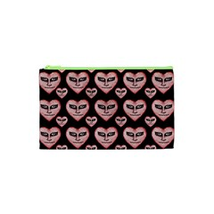 Angry Devil Hearts Seamless Pattern Cosmetic Bag (xs)
