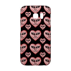 Angry Devil Hearts Seamless Pattern Galaxy S6 Edge
