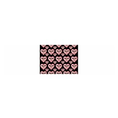 Angry Devil Hearts Seamless Pattern Satin Scarf (oblong)