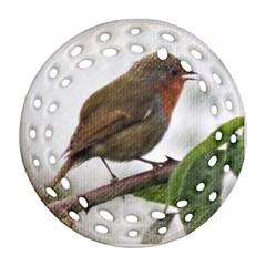 Robin Round Filigree Ornament (Two Sides)