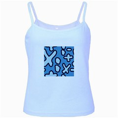 Blue maths signs Baby Blue Spaghetti Tanks