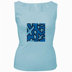 Blue maths signs Women s Baby Blue Tank Tops