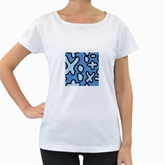 Blue Maths Signs Women s Loose Fit T Shirt (white)