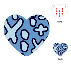 Blue Maths Signs Playing Cards (heart)