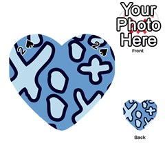 Blue maths signs Playing Cards 54 (Heart)