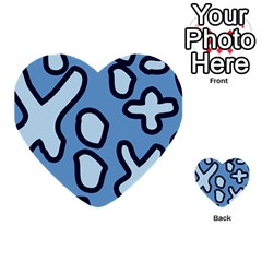 Blue maths signs Multi-purpose Cards (Heart)