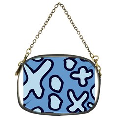 Blue maths signs Chain Purses (Two Sides)
