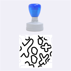 Blue maths signs Rubber Round Stamps (Medium)