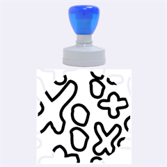 Blue maths signs Rubber Round Stamps (Large)