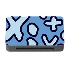 Blue maths signs Memory Card Reader with CF