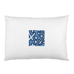 Blue maths signs Pillow Cases (Two Sides)