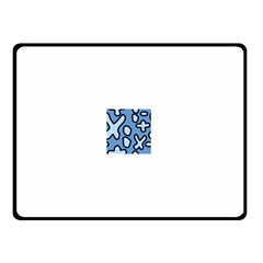 Blue maths signs Double Sided Fleece Blanket (Small)