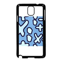 Blue maths signs Samsung Galaxy Note 3 Neo Hardshell Case (Black)