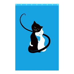 Blue Hugging Love Cats Shower Curtain 48  x 72  (Small)