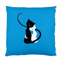 Blue Hugging Love Cats Standard Cushion Cases (two Sides)
