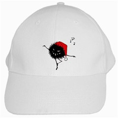 Dancing Evil Christmas Bug White Baseball Cap