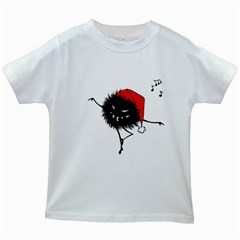 Dancing Evil Christmas Bug Kids White T Shirts