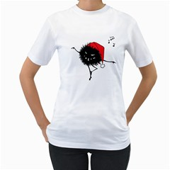 Dancing Evil Christmas Bug Women s T Shirt (white)