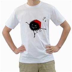 Dancing Evil Christmas Bug Men s T-Shirt (White)