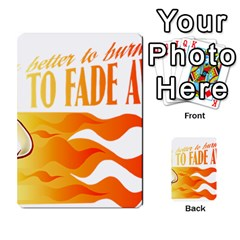its better to burn out than to fade away Multi-purpose Cards (Rectangle)