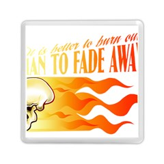 its better to burn out than to fade away Memory Card Reader (Square)