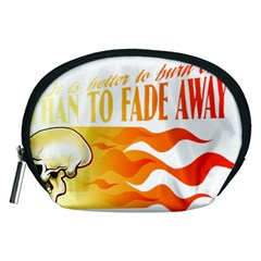 its better to burn out than to fade away Accessory Pouches (Medium)