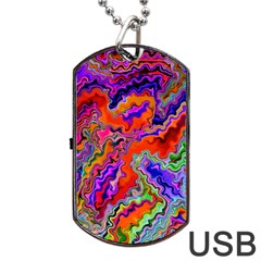 Happy 3 Red Dog Tag Usb Flash (two Sides)
