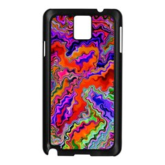 Happy 3 Red Samsung Galaxy Note 3 N9005 Case (Black)