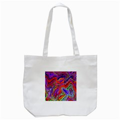 Happy 3 Red Tote Bag (white)