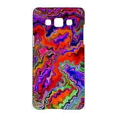 Happy 3 Red Samsung Galaxy A5 Hardshell Case