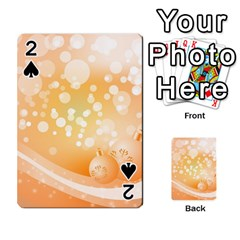 Wonderful Christmas Design With Sparkles And Christmas Balls Playing Cards 54 Designs