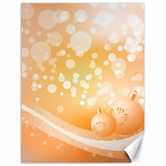 Wonderful Christmas Design With Sparkles And Christmas Balls Canvas 12  x 16