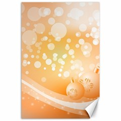 Wonderful Christmas Design With Sparkles And Christmas Balls Canvas 24  x 36