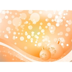 Wonderful Christmas Design With Sparkles And Christmas Balls Birthday Cake 3D Greeting Card (7x5)