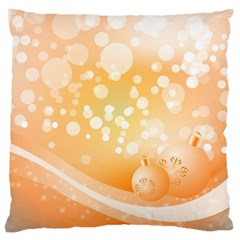 Wonderful Christmas Design With Sparkles And Christmas Balls Large Cushion Cases (One Side)