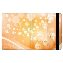 Wonderful Christmas Design With Sparkles And Christmas Balls Apple iPad 3/4 Flip Case